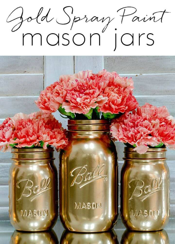 DIY Spray Paint Jars
