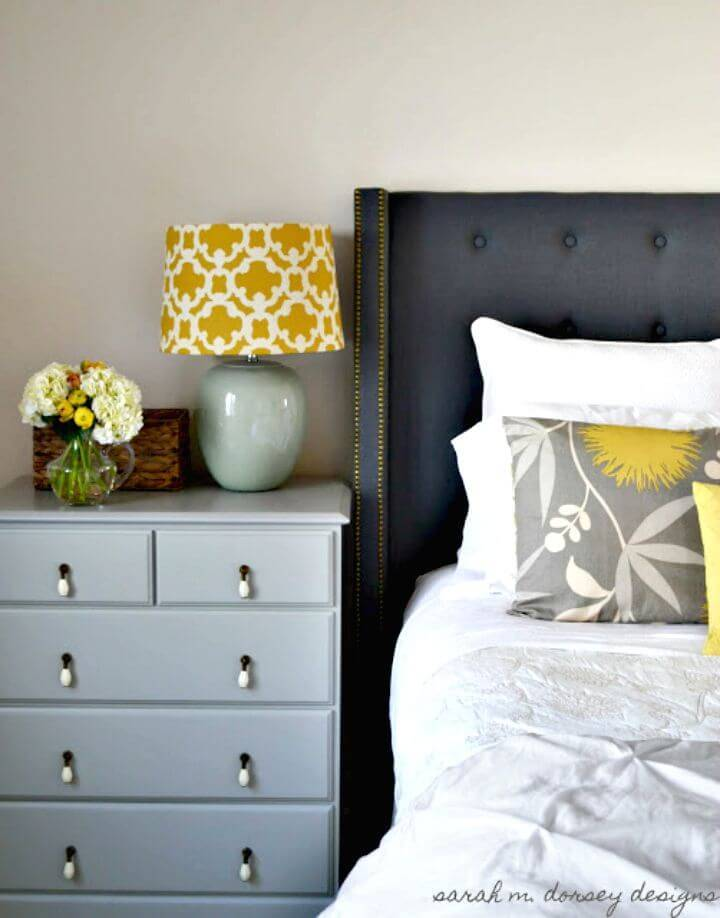 DIY Square Headboard with Wings