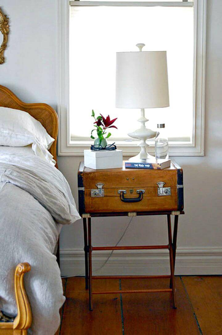 How to Make Suitcases Bedside Table - DIY