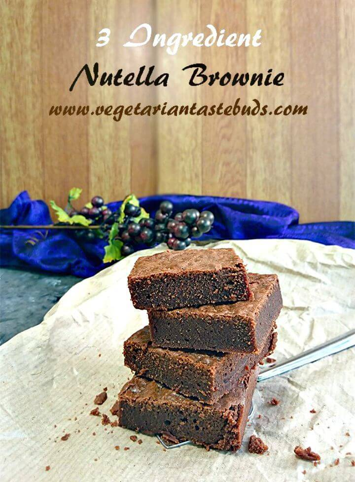 3 Ingredient Nutella Brownies Recipe