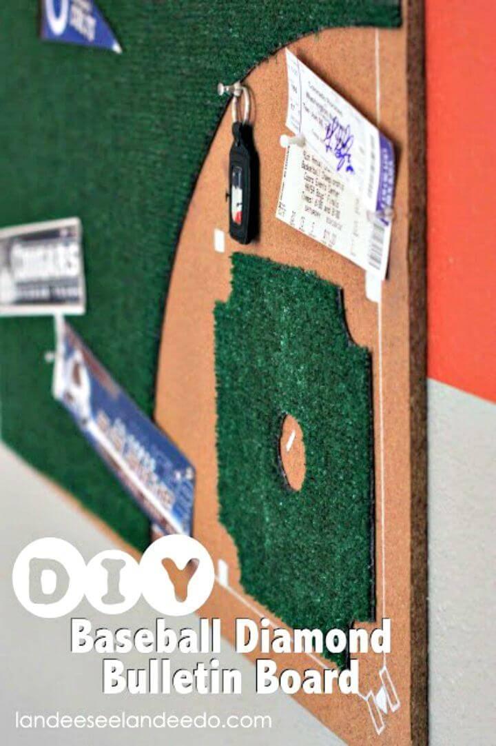 DIY Baseball Diamond Bulletin Board