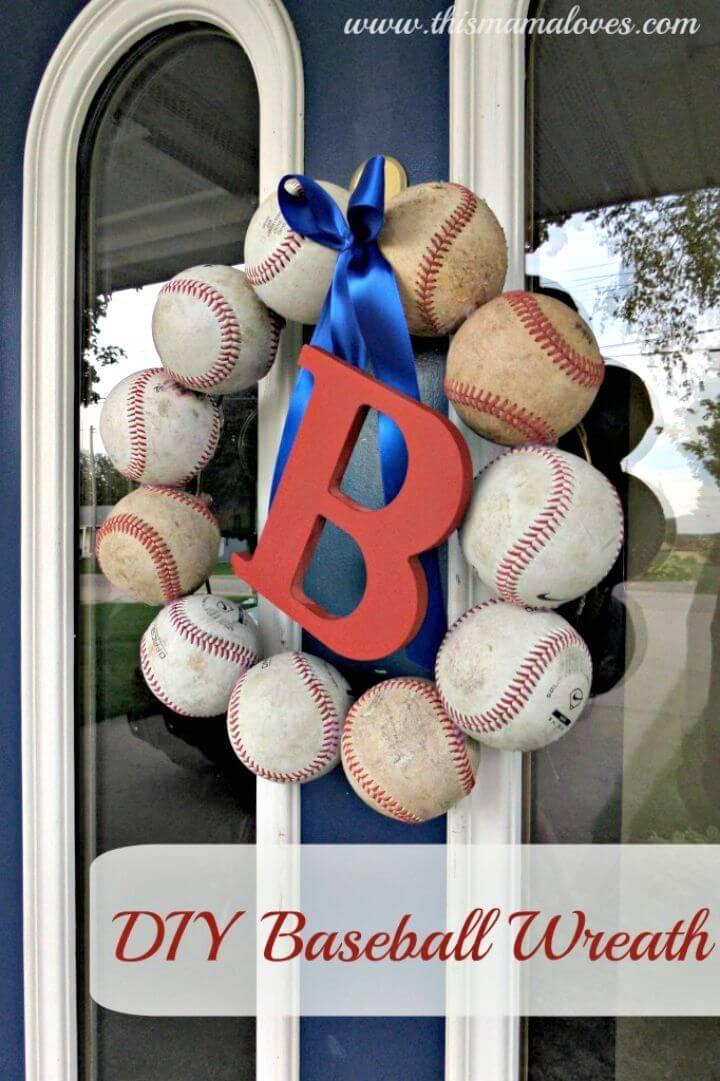 Make Baseball Wreath - DIY Baseball Crafts