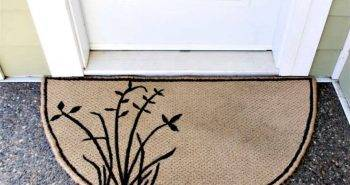 DIY Carpet Scrap Door Mat