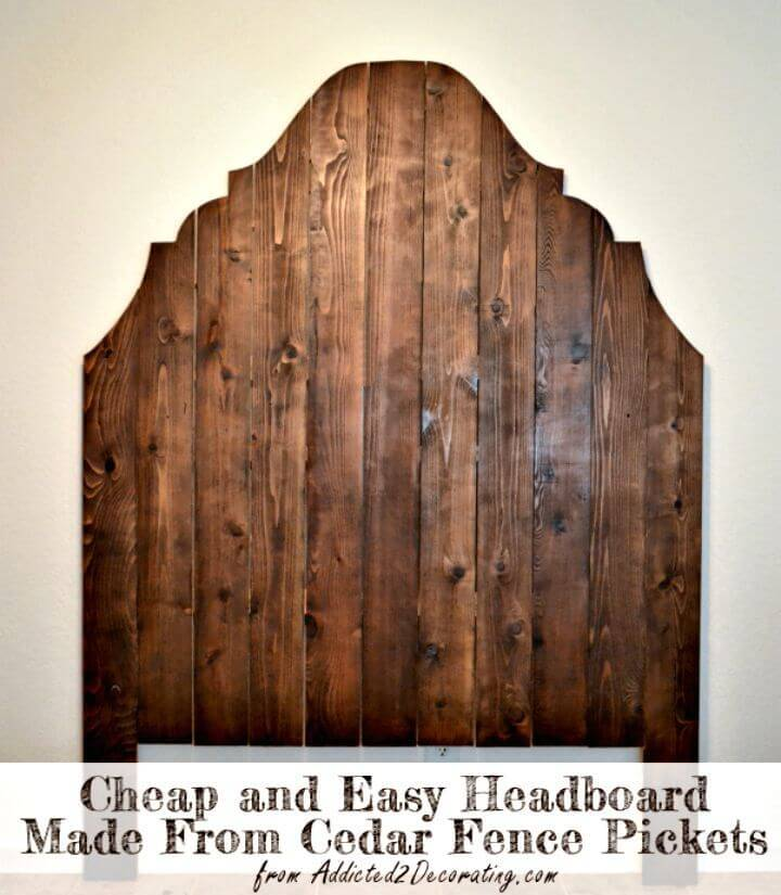 DIY Headboard from Cedar Fence Pickets