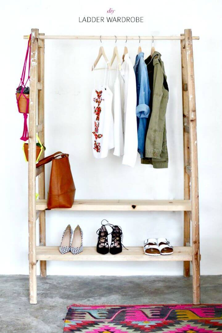 Build Your Own Ladder Wardrobe - DIY