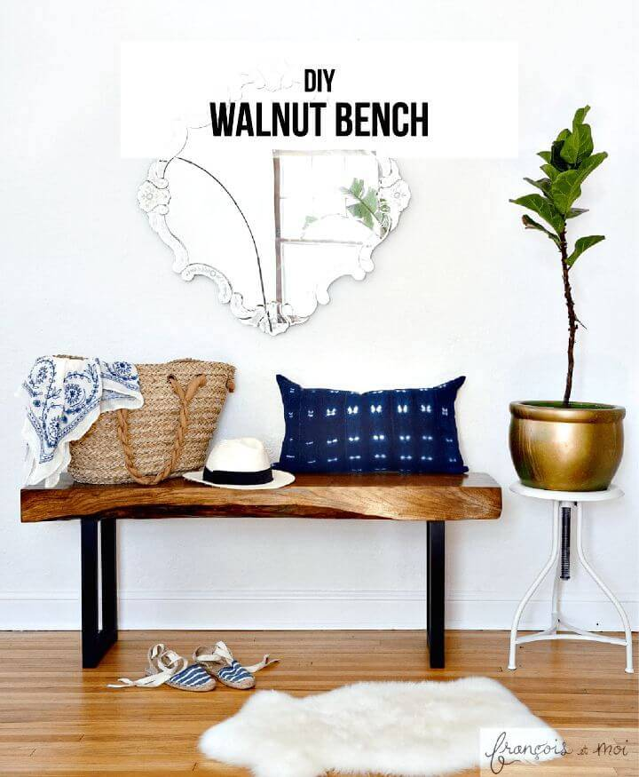 DIY Live Edge Walnut Bench - Home Decor Ideas & Projects