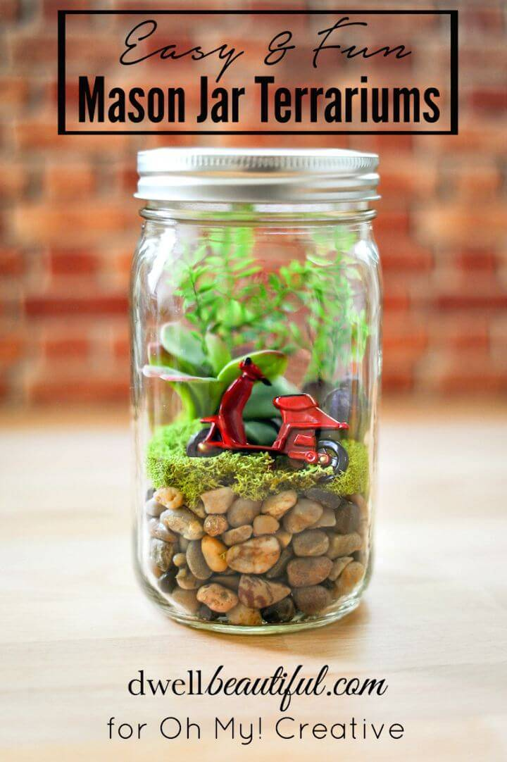How to Make Mason Jar Terrariums