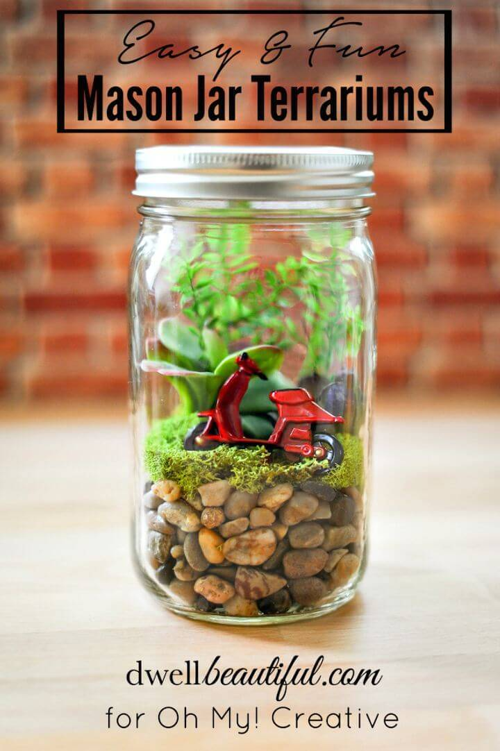 DIY Mason Jar Terrariums