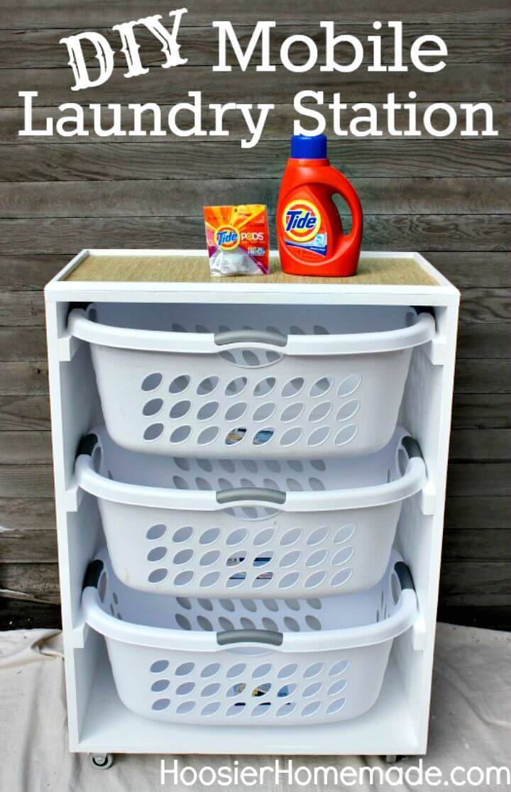 Easy DIY Mobile Laundry Station