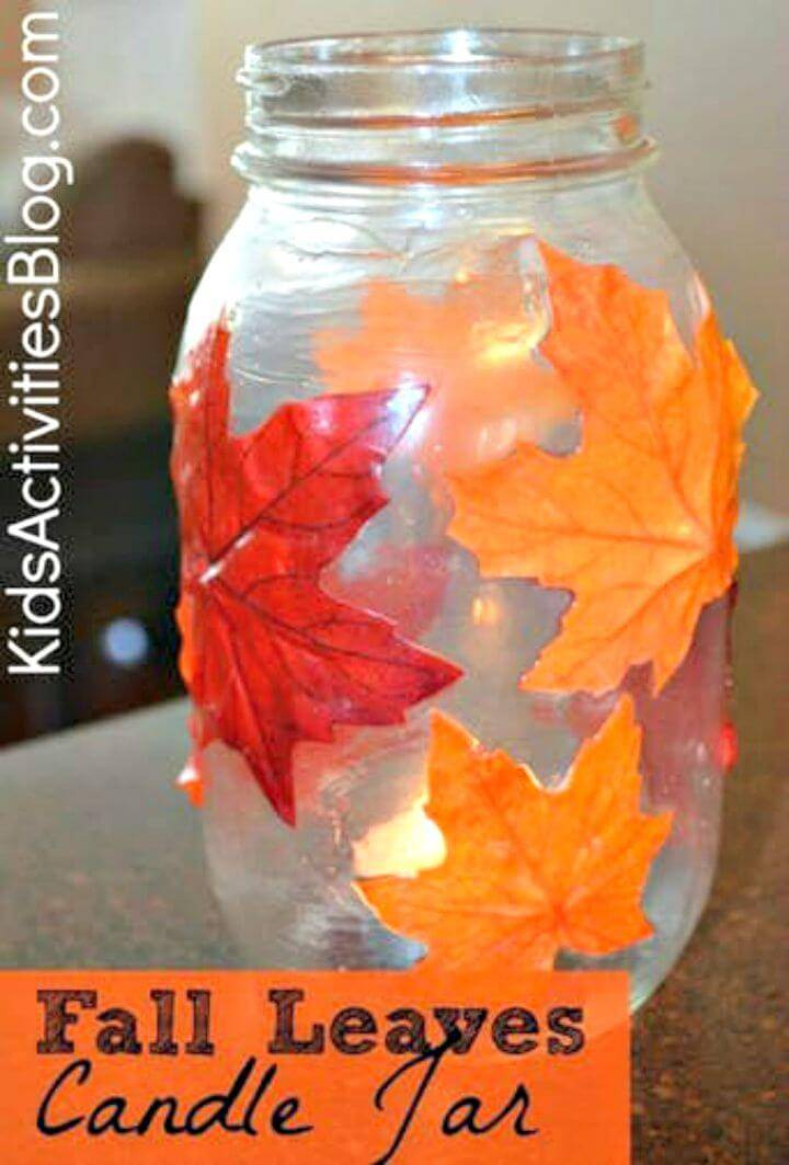 Simple DIY Mod Podge A Mason Jar Candle