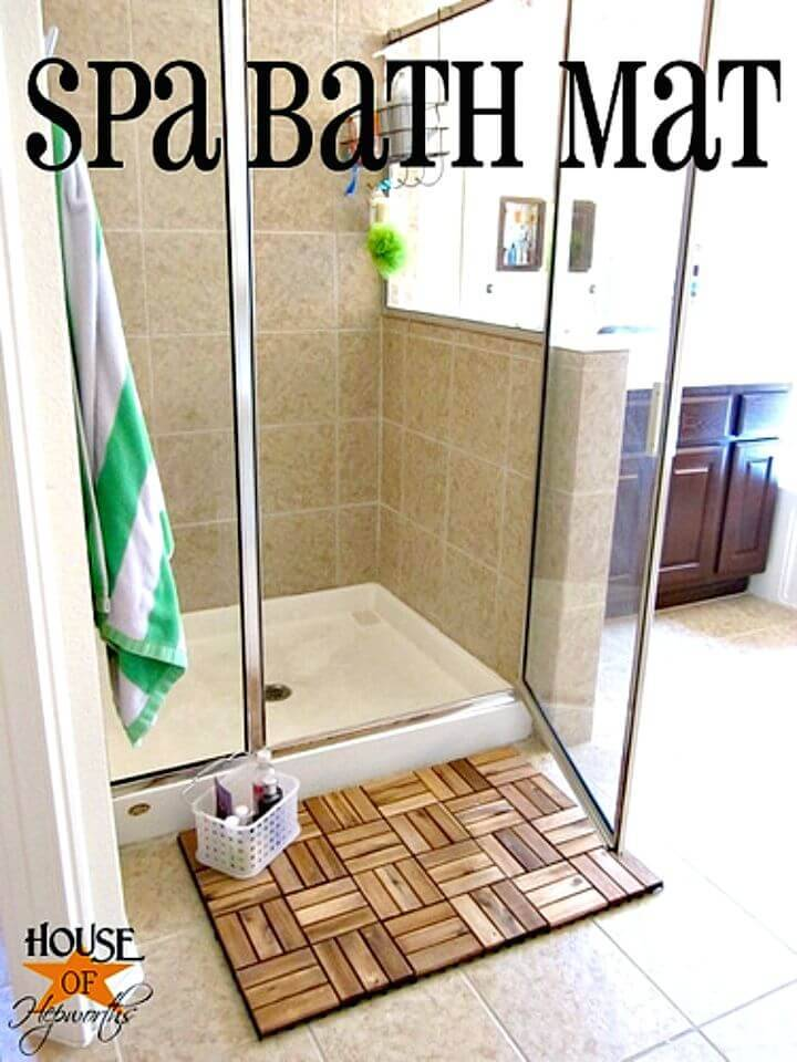 DIY Spa Bath Mat Using Ikea Outdoor Decking