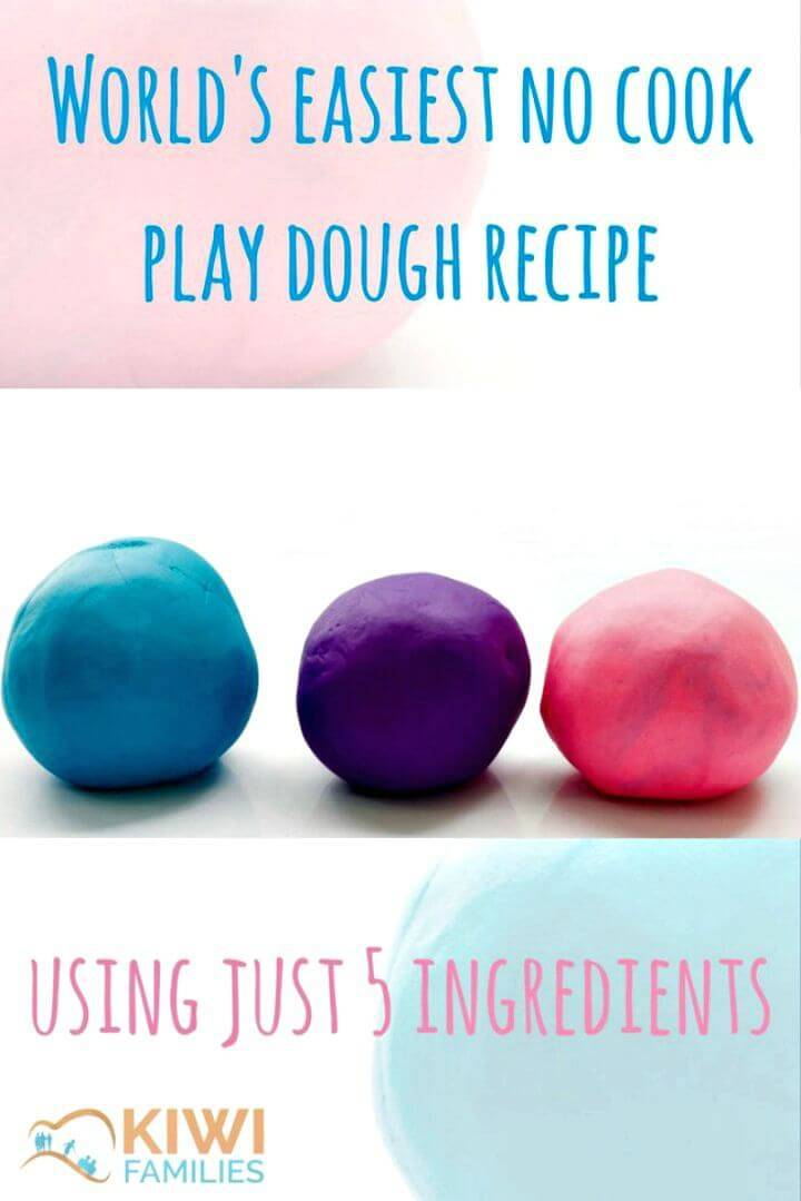 Easiest No Cook Play Dough Recipe