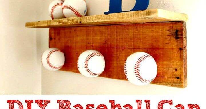 Awesome DIY Baseball Cap Hat Rack