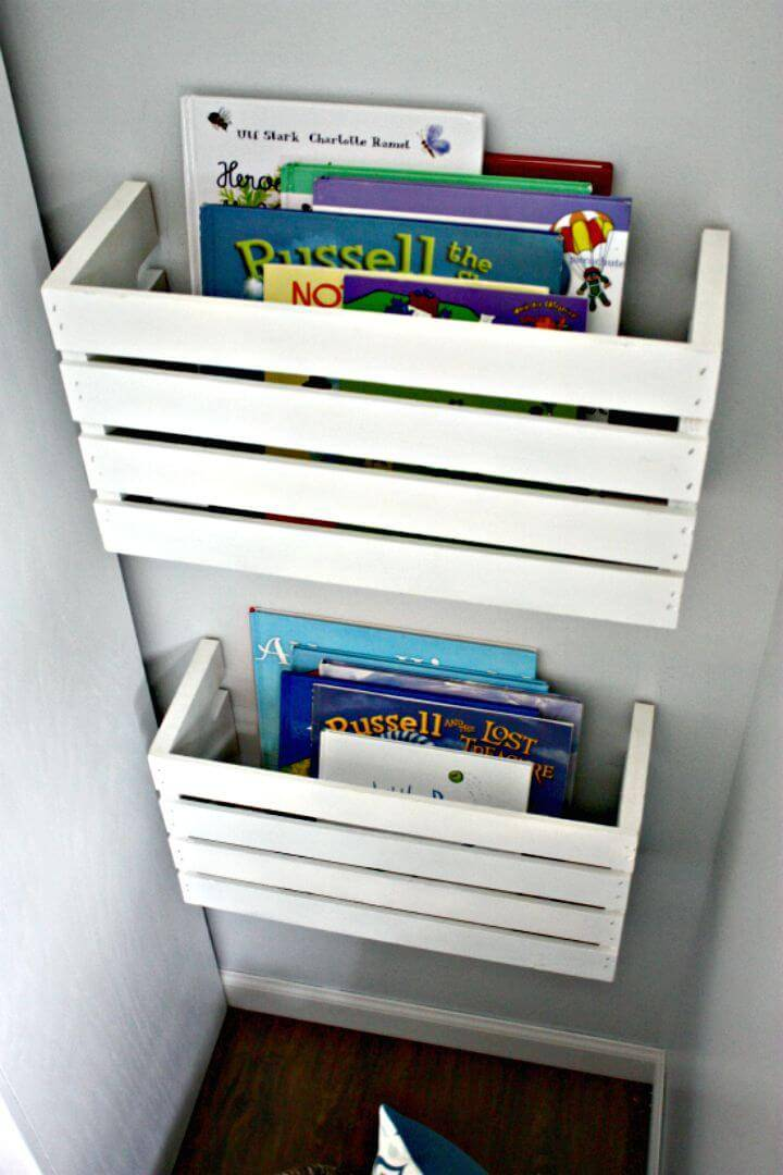 Easy To Make Crate Book Storage