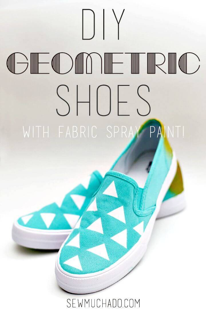 DIY Geometric Painted Shoes