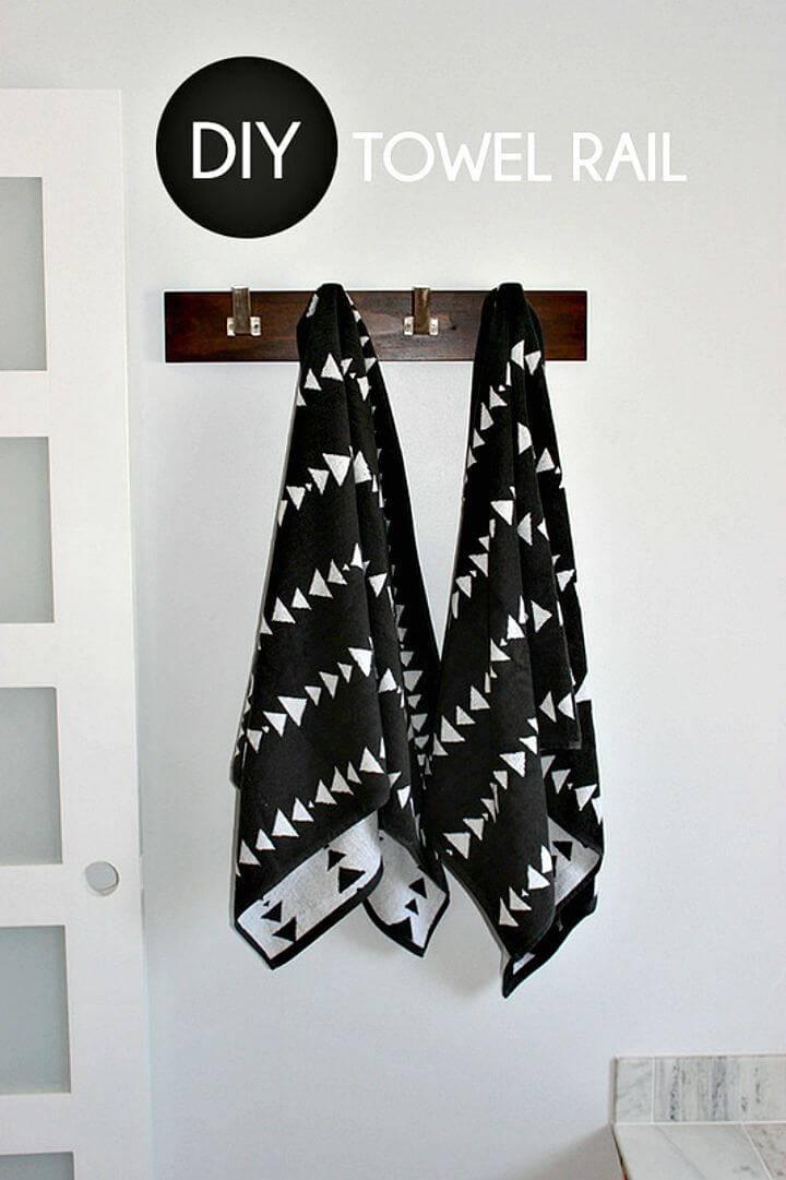 DIY Towel Rail Look for Less