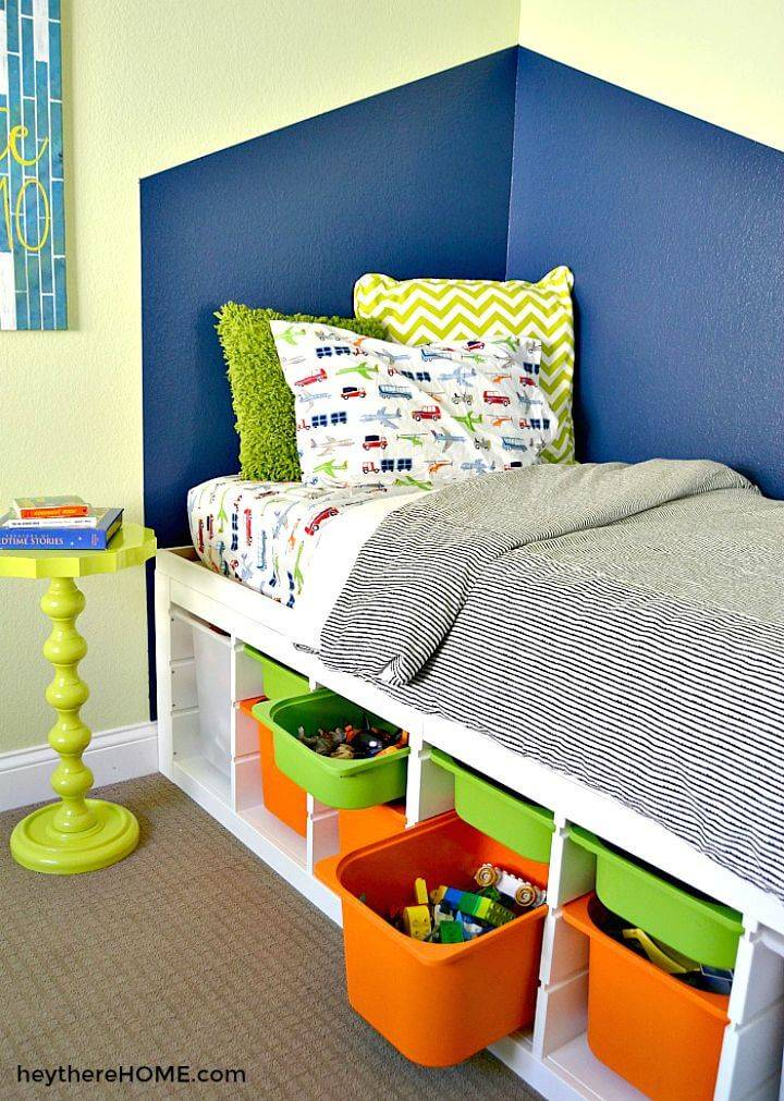 How To Make Twin Storage Bed - DIY