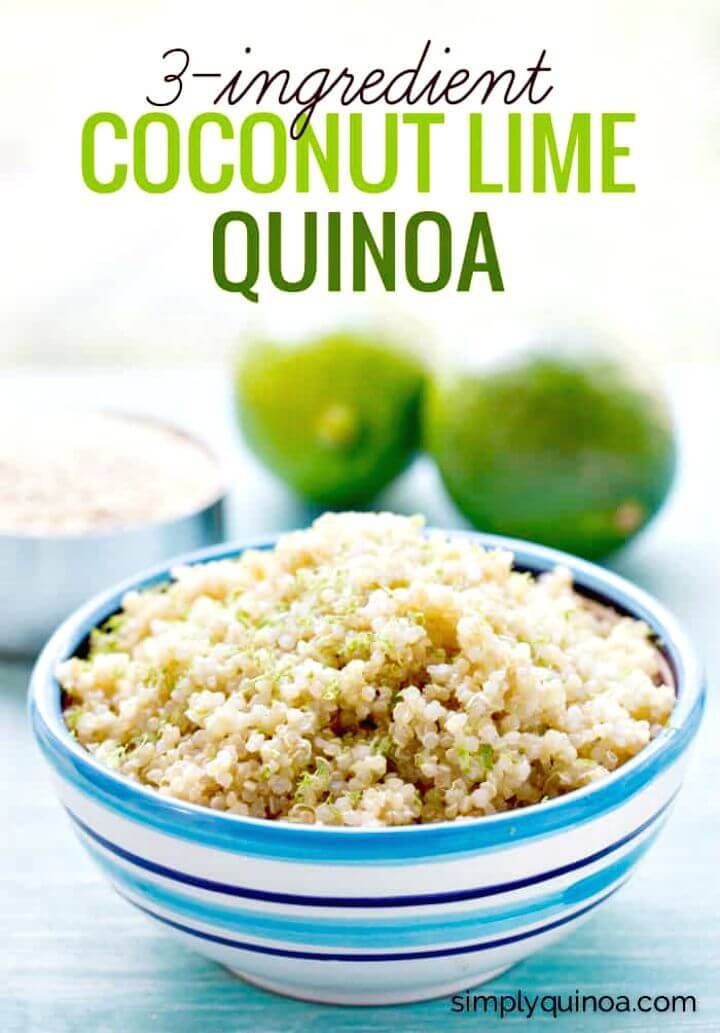 Prepare 3-ingredient Coconut Lime Quinoa
