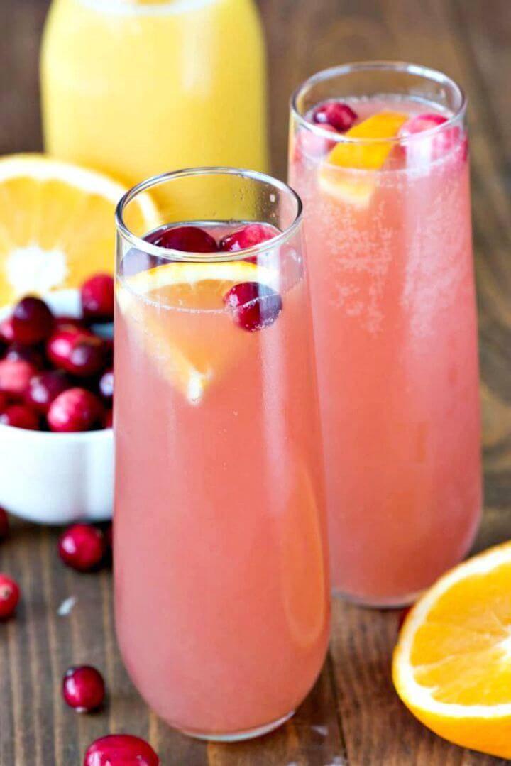 Cranberry Orange Mimosa Bellini Recipe