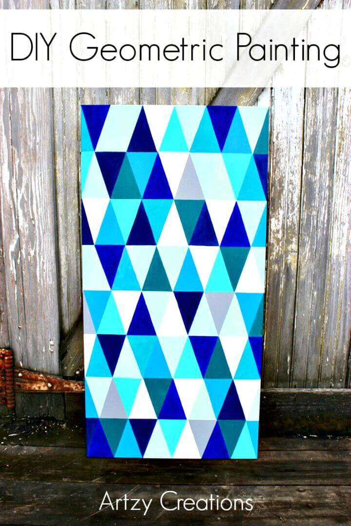 Gorgeous DIY Geometric Painting