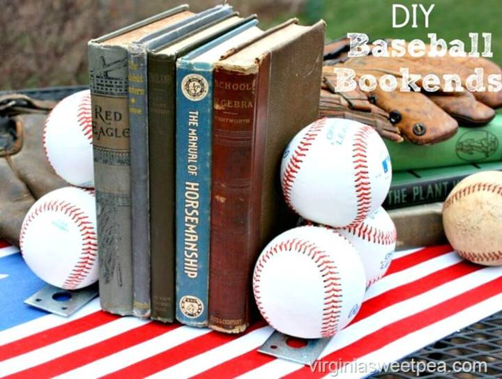 How To Make Baseball Bookends - DIY