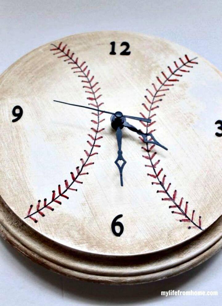 Awesome DIY Baseball Clock