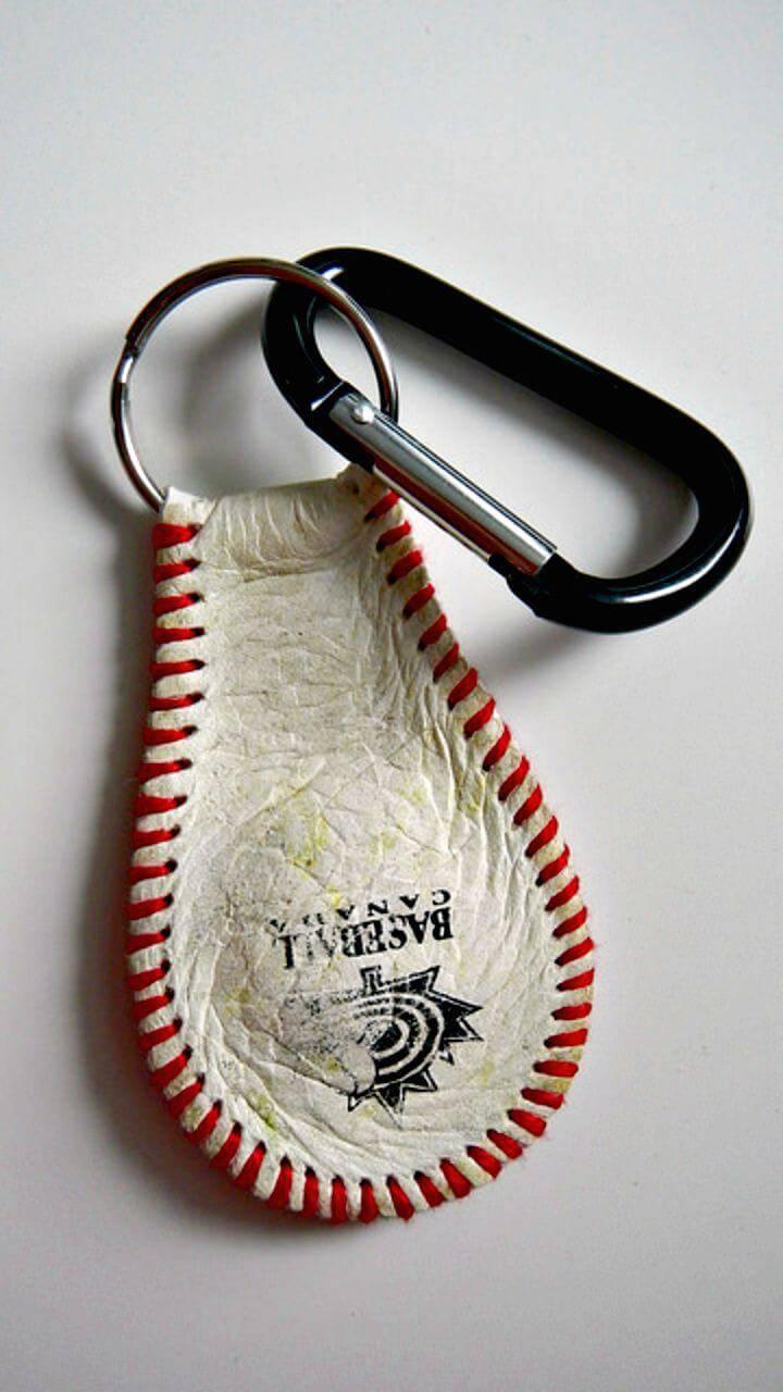 Make Baseball Keychain - DIY Baseball Crafts