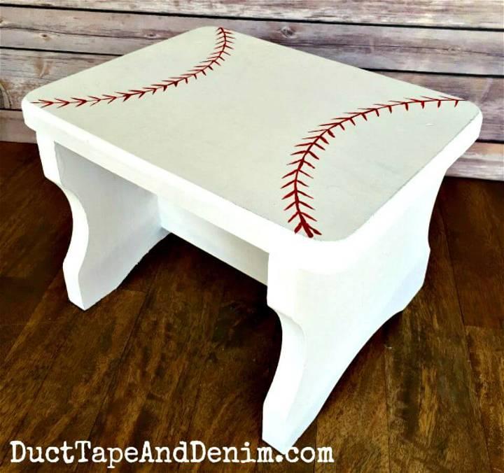 Functional DIY Baseball Stool