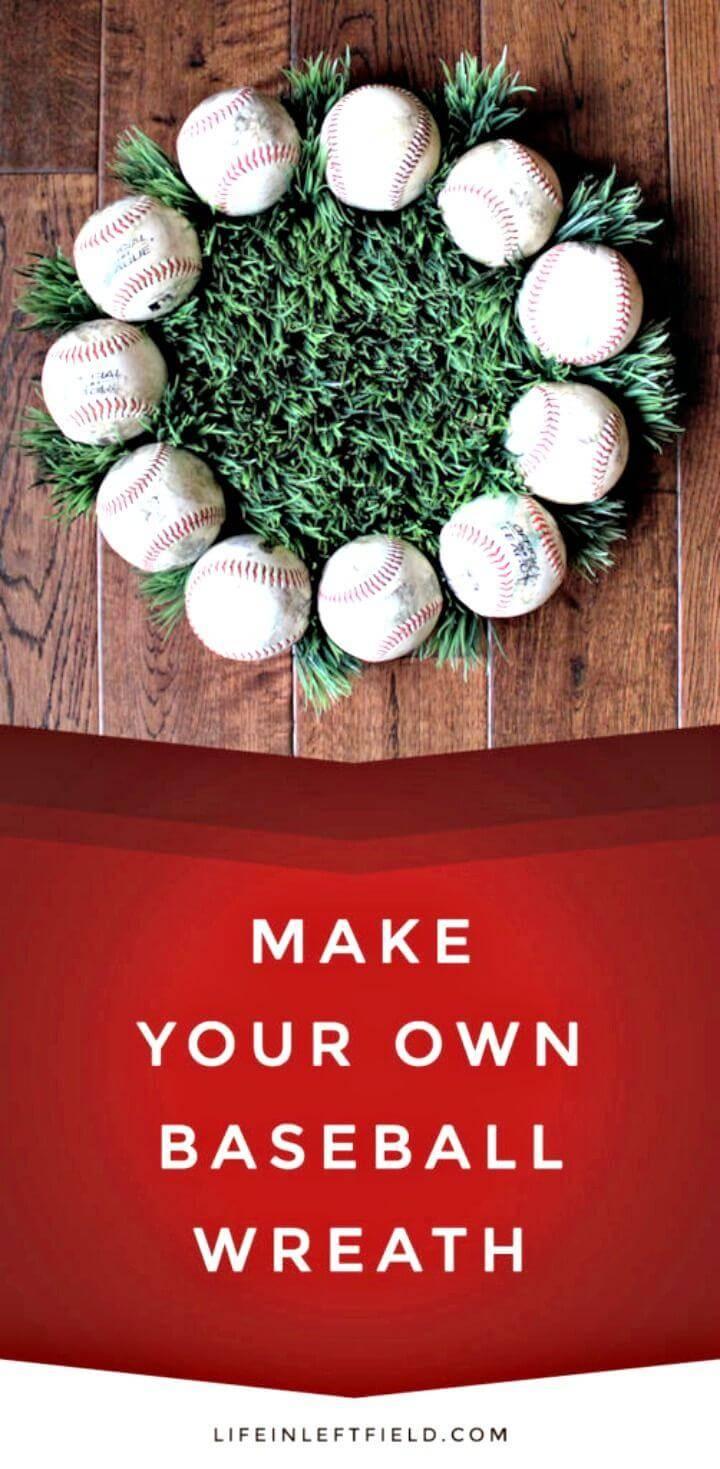 How To Make Baseball Wreath - DIY Baseball Crafts