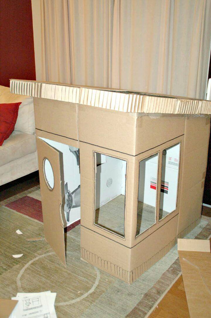How To Make Cardboard Playhouse