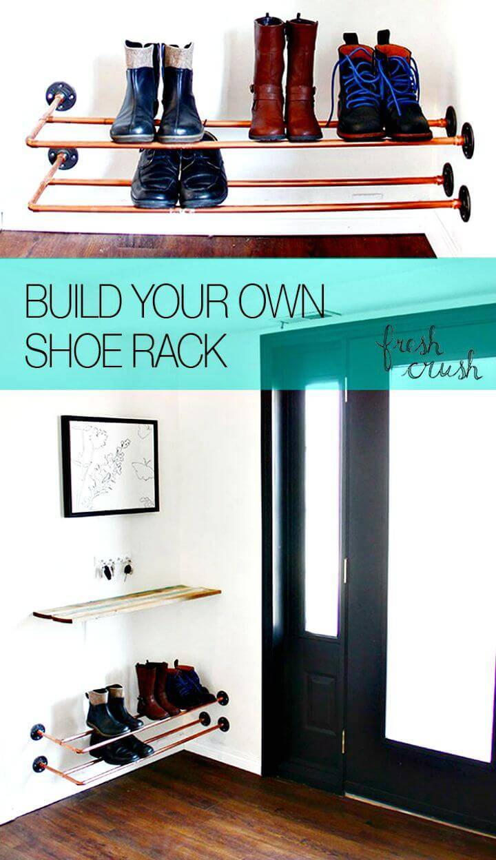 DIY Copper Shoe Rack for Shoes Storage