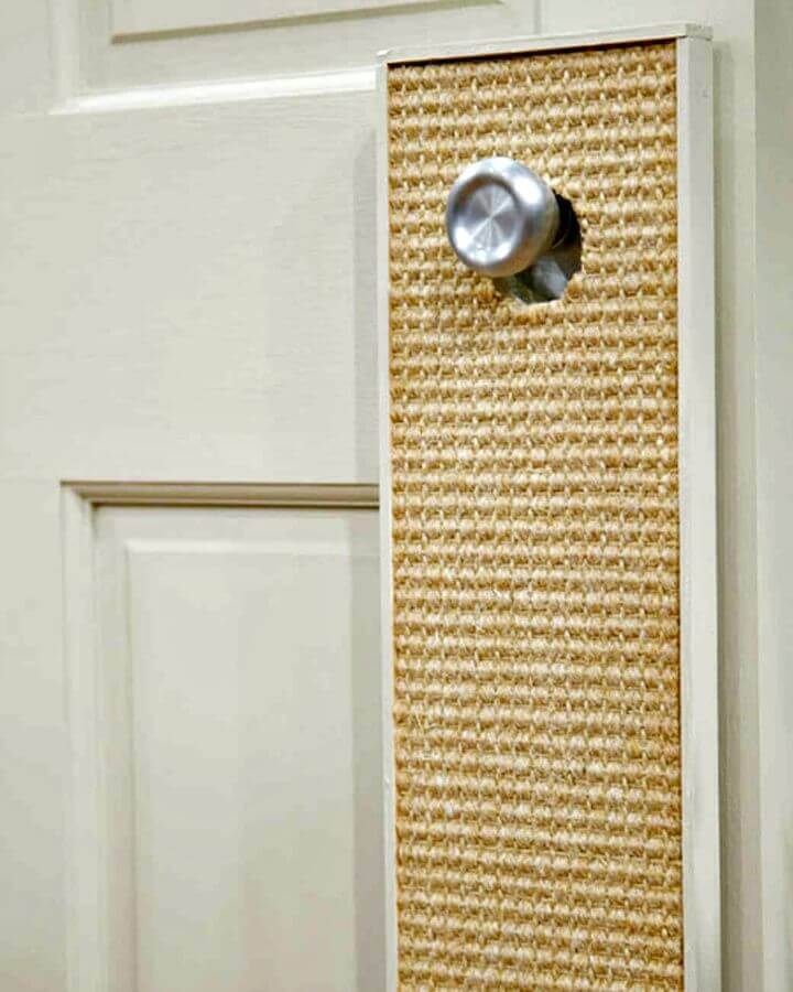 How To Make Door Cat Scratcher - DIY
