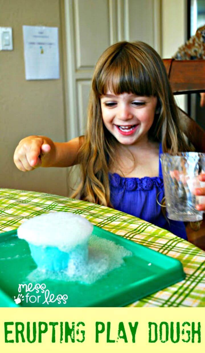 Erupting Playdough Recipe - DIY