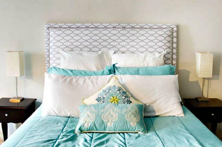 How To Make Fabric Headboard - DIY