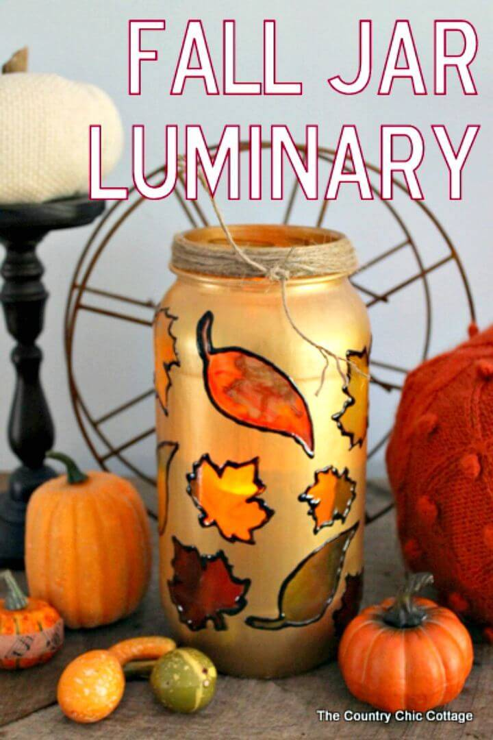 Simple DIY Fall Jar Luminary