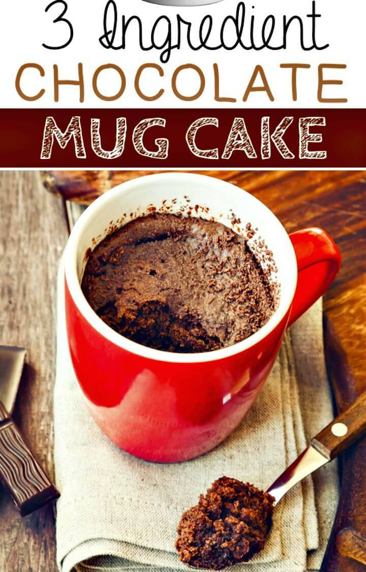 Flour-less Chocolate Mug Cake Recipe