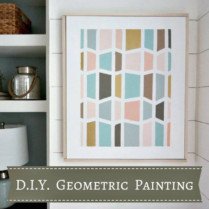 How to Make Geometric Painting - DIY