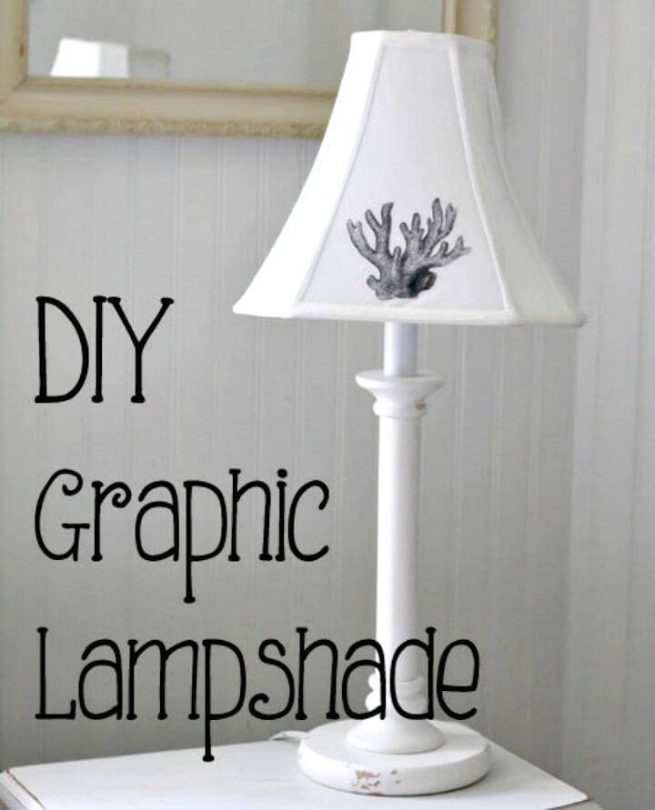 How To Make Graphic Lampshade - DIY