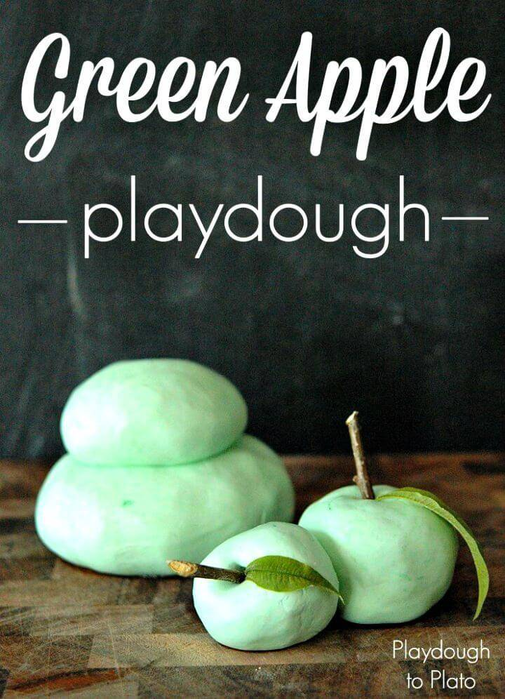 Green Apple Playdough Recipe - DIY