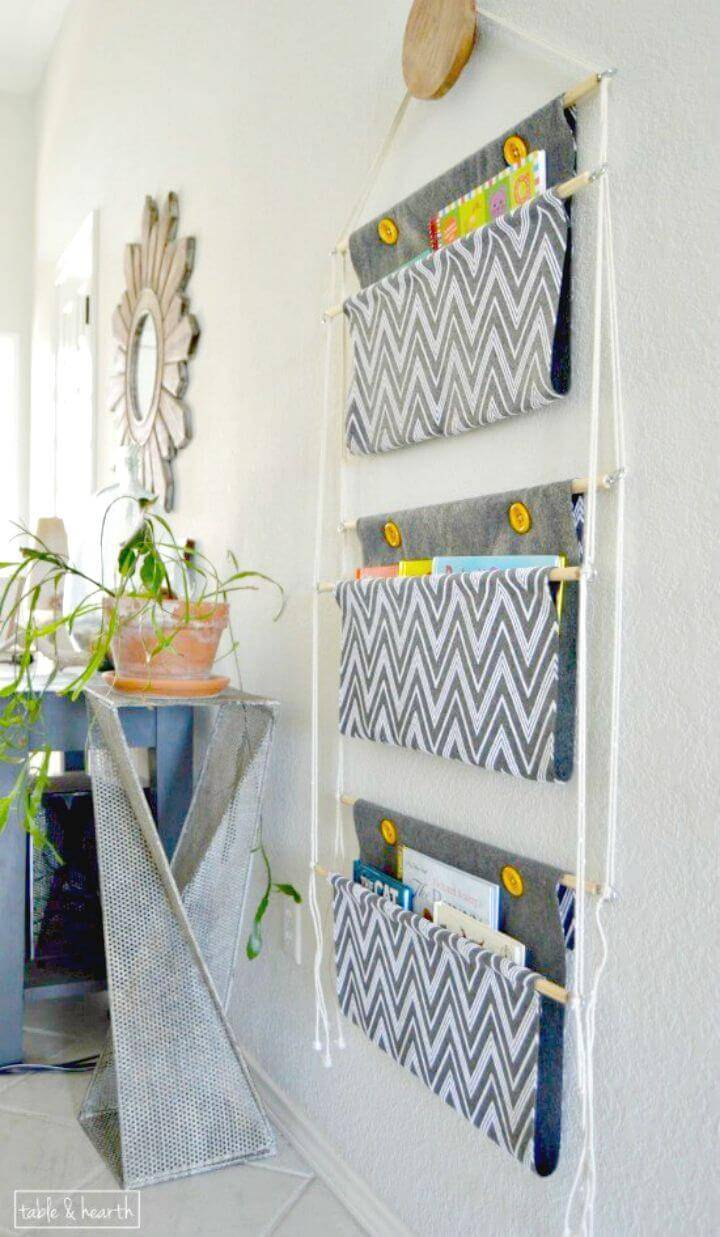 How To Make Hanging Book Storage - DIY