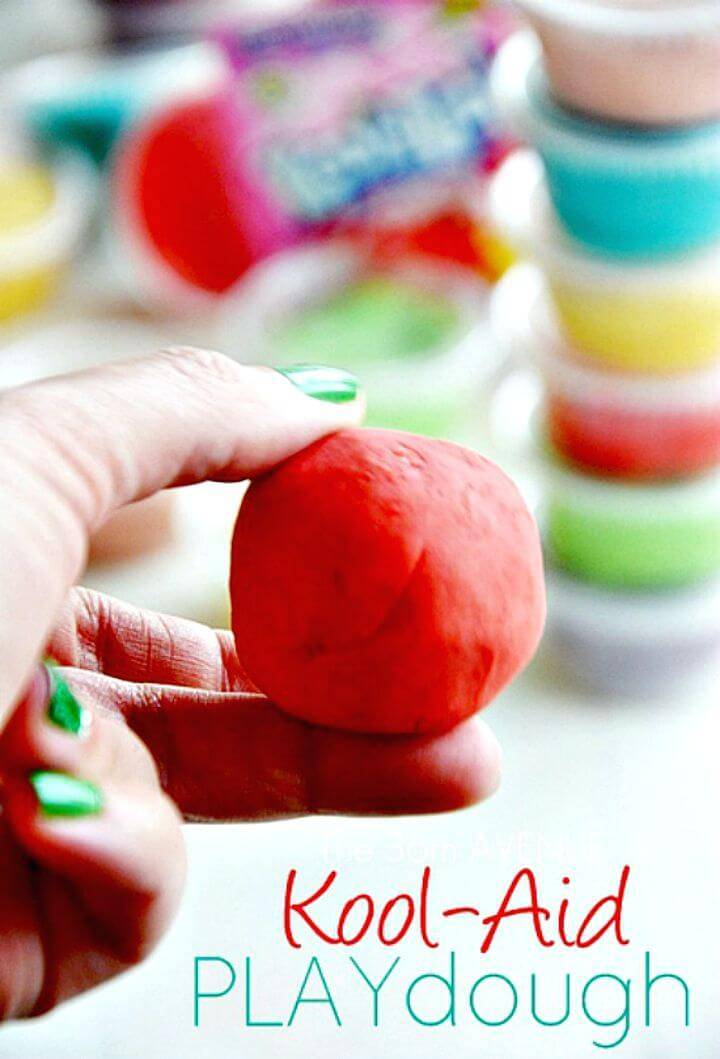 Make Kool-aid Playdough with Kids