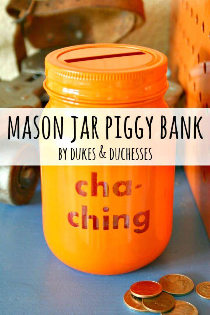 DIY Mason Jar Piggy Bank for Kids