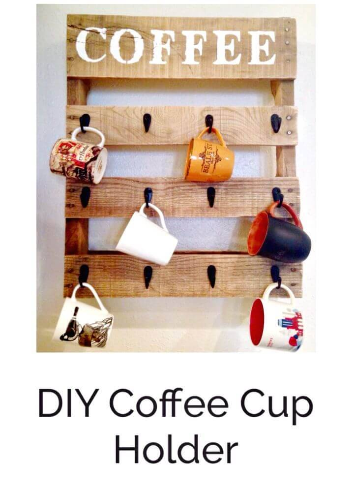 DIY Pallet Coffee Cup Holder - Pallet Projects