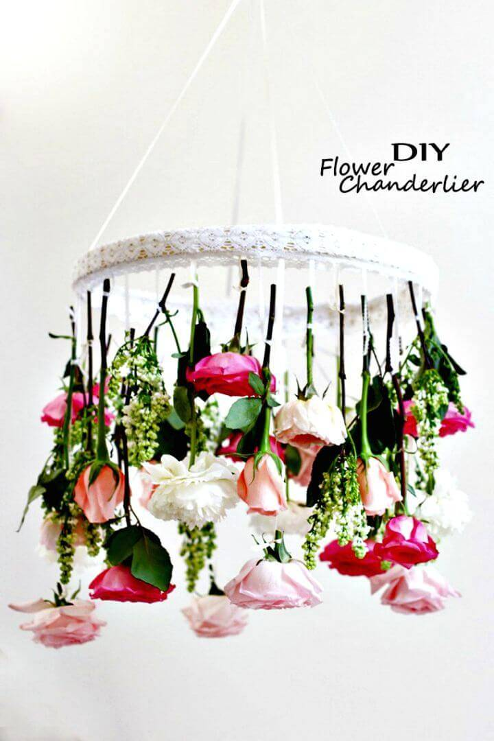 Awesome DIY Shabby Chic Flower Chandelier
