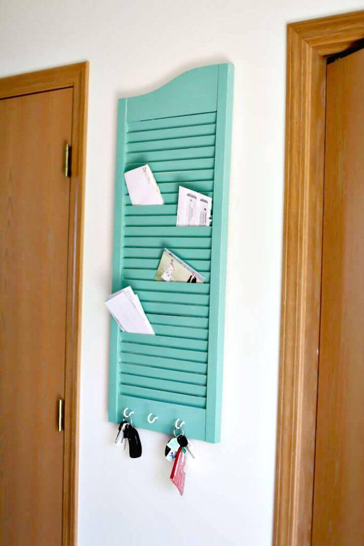 Turn a Shutter into Mail Holder - DIY