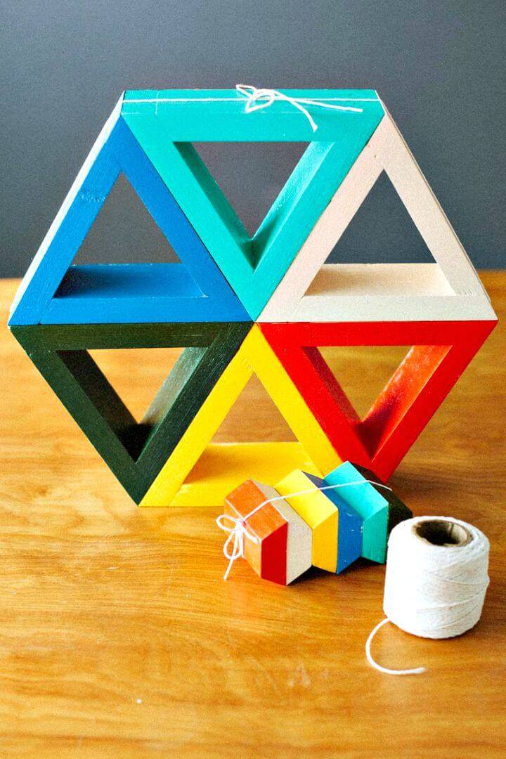 How To Make Triangle Shelves - DIY