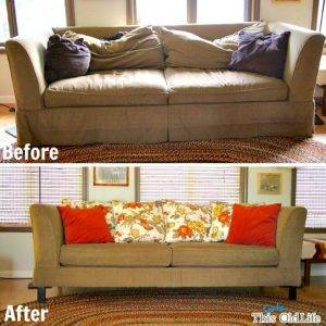 Top 10 DIY Sofa Makeover Ideas