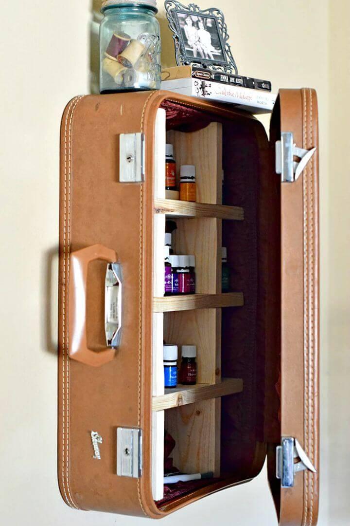 DIY Suitcase Vintage Cabinet