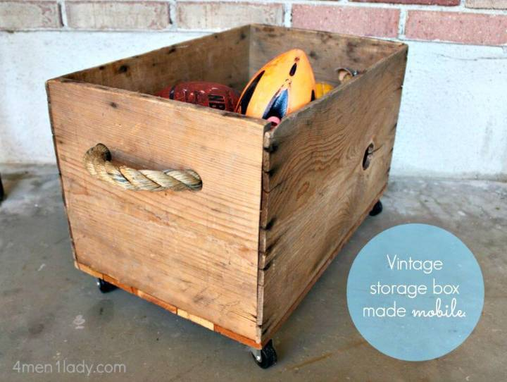 Turn Vintage Box Crate Into Toy Box