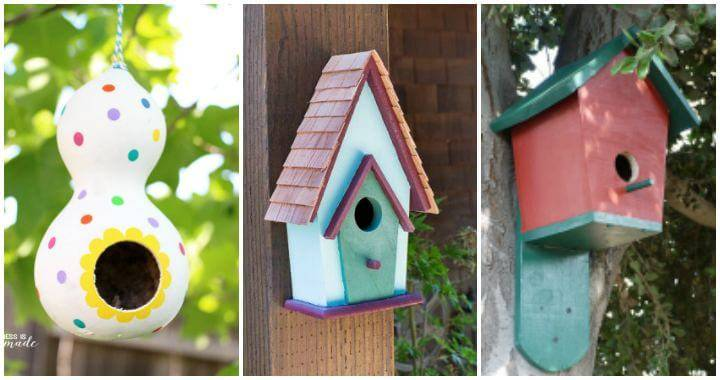How to build a Birdhouse 55 Easy DIY Birdhouse Ideas, DIY Birdfeeder Plans, DIY Birdhouses, DIY Birdhouse Plans, DIY Projects, DIY Home Decor Projects, DIY Garden Ideas